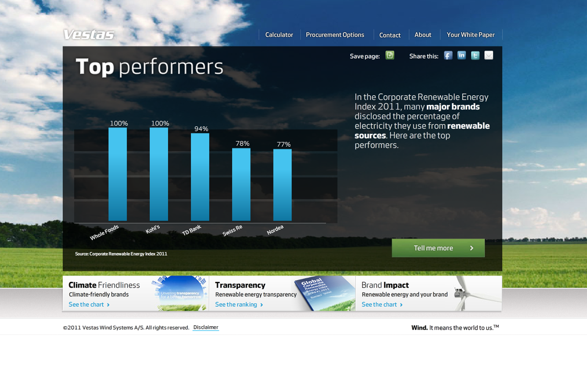 Vestas Custom Landing Page EnergyEfficiency.com