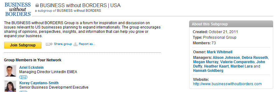 HSBC Business Without Borders LinkedIn Group