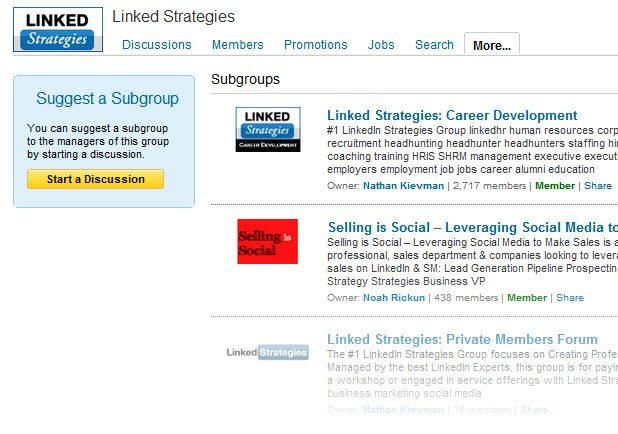 LinkedIn Subgroups Join More Than 50 Groups