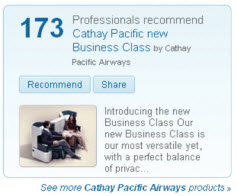 LinkedIn Case Study - Cathay Pacific Recommendation Ads