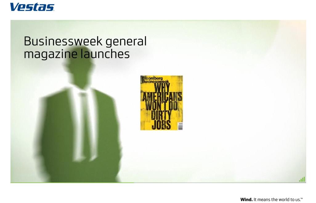 Vestas Launches Businessweek Campaign