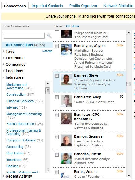 LinkedIn Connection Database Build