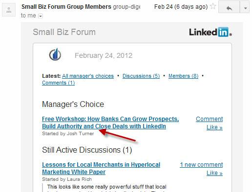 Daily LinkedIn Group Digest
