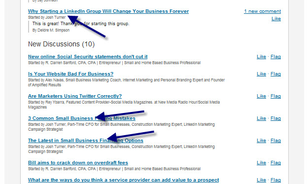 LinkedIn Groups Daily Email Digest