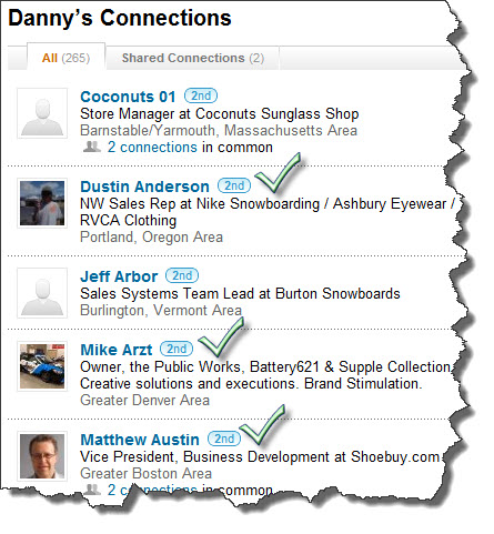LinkedIn Connections for Prospecting