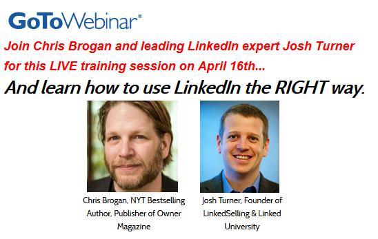 Chris Brogan LinkedIn