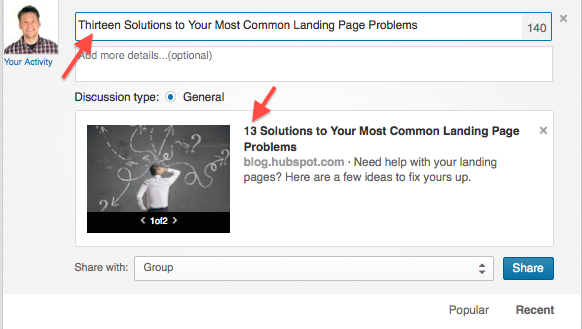 How to Optimize Your Post