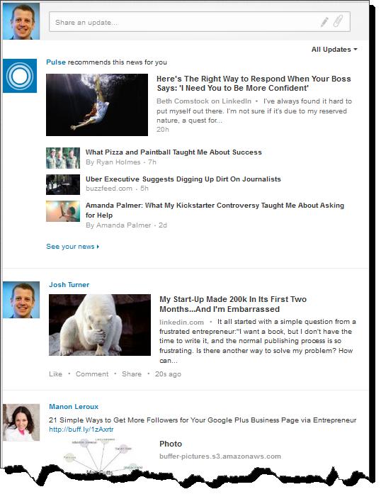 How often should I post status updates on LinkedIn?