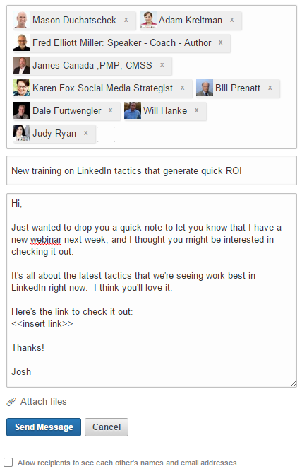 LinkedIn Message 50 Connections