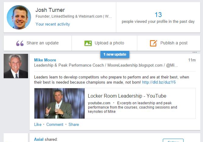 Marketing Webinars with LinkedIn Status Updates