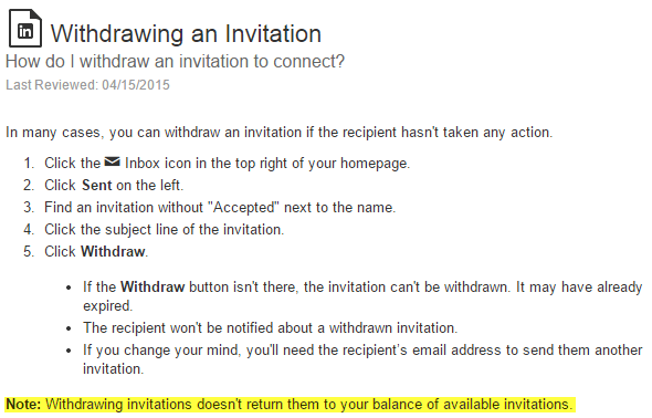 Withdrawing Invites