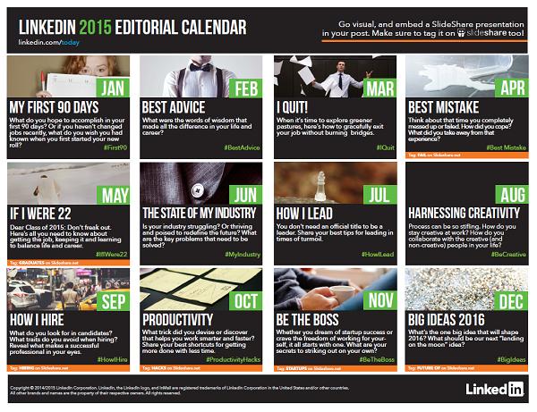 LinkedIn Editorial Calendar