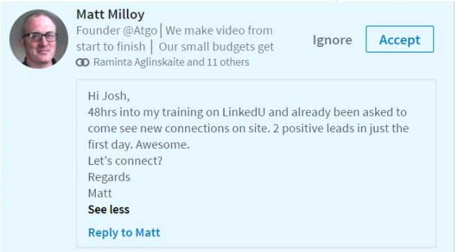 2 LinkedIn Leads On The First Day